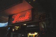 Catskin #neon #light #kiosk #london #night
