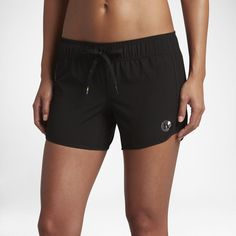 O/'Neill GIRL FREAK Black Gold Side Zipper Pocket Junior/'s Swim Board Shorts