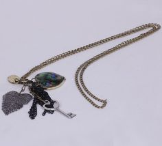 29.5cm Sweater Chain Necklace Jewelry with Different Shapes Pendants Coppery
