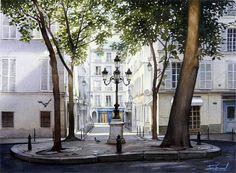法国Thierry Duval水彩作品