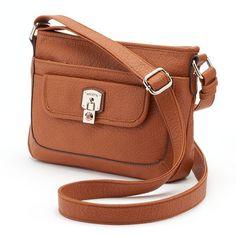 Rosetti Lana Crossbody Bag (Brown) ($25) ❤ liked on Polyvore featuring bags, handbags, shoulder bags, brown, vegan leather handbags, rosetti purses, faux leather purse, brown cross body purse and vegan purses