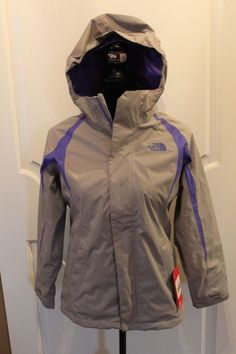 0b4e6ef5861 The North Face Girls Mountain Triclimate 3 in 1 Jacket Parka Gray MSRP  140  NEW