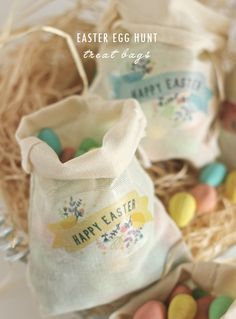 Easter Egg Hunt Treat Bags | Polkadot Prints