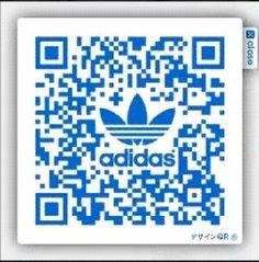Adidas branded QR code