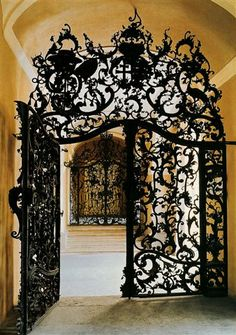 Fazola gate in Eger, Hungary. I dig gates - Mattyo Cool Doors, Unique Doors, Architecture Art Nouveau, Architecture Details, Building Architecture, Wrought Iron Gates, Metal Gates, Door Gate, Gate 2