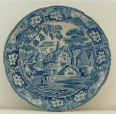 A transfer printed Davenport plate Circa 1820-30 Northern Antiques