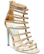 Blue by Betsey Johnson Tie High Heel Evening Sandals