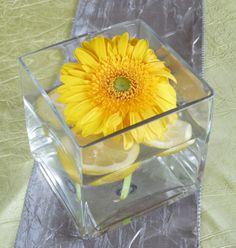 Simple Yellow Flower Centerpiece