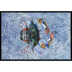 "Caroline's Treasures Crab Doormat Rug Size: 1'6"" x 2' 3"""