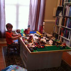 Lego table using Ikea bases