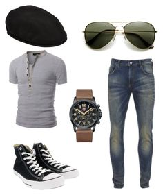 """why"" by darrick-howard-ii on Polyvore featuring Scotch & Soda, Doublju, kangol, Converse, Luminox, men's fashion and menswear"