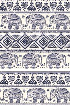 dessin ethnique coloré + elephant - Recherche Google