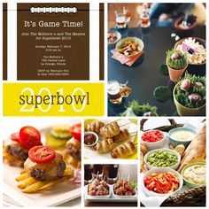 super duper cute super bowl party ideas....