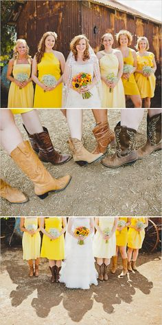 Bridesmaids and cowgirl boots!