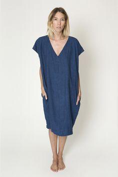 Image of Amira Dress, Indigo