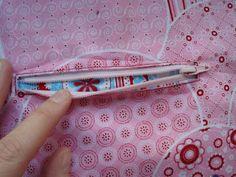 Schnabelinas Welt: Nähanleitung eingesetzte Reißverschlusstasche (z. B. für die Thila Tasche)