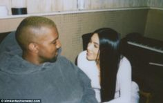 Close:Kanye West is about to launch his Yeezy 5 show in New York City. And just hours earlier his wife Kim Kardashian showed how much she loves the guy by posting a very loving photo to her site kimkardashianwest.com