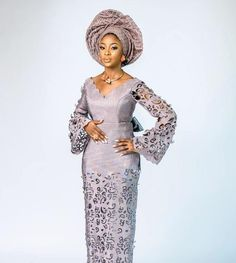 Bridal Asooke with the Sauce! You Definitely have to See these Trad Looks African Wear Dresses, Latest African Fashion Dresses, African Print Fashion, Nigerian Fashion, Ankara Fashion, African Outfits, Africa Fashion, African Prints, African Fabric