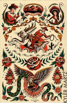 We ♥ Tattoo: o old school de Kyler Martz