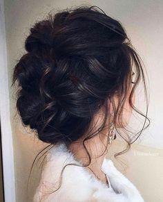 wedding updo hairstyle via UlyanaAster
