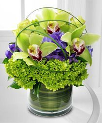 """ A Cymbidium Delight"" - You can give flowers for Father's Day! @French Florist"