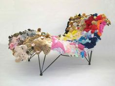 30 Fun Diy Repurposed Toys Ideas. Finally something to do with all of Vs stuffed animals. Looks comfy !