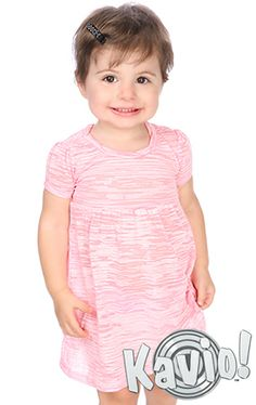 6db0a301f9c7e Camouflage Striped Burnout Baby Doll Scoop Neck Short Sleeve Dress IJB0544  Sizes 6m-24m Cute