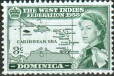 Dominica 1958 B W I Federation Set Fine Mint SG 159 61 Scott 161 3 Other British Commonwealth Empire and Colonial Stamps Here