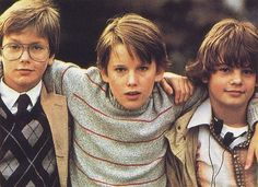 """River Phoenix, Ethan Hawke, and Bobby Fite in """"The Explorers"""", 1985"""