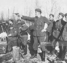 """degrelle88: """"Wehrmacht troops practice pistol shooting, 1941. """""""