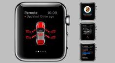 #Smartwatch bedient #Porsche #Car Connect
