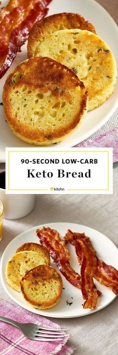 How to Make Easy 90 Second Keto Bread. Looking for easy healthy low carb recipes and ideas for lunches, breakfasts, and dinners? Made with almond meal, egg, and coconut flour in your microwave! Makes great toast or buns or even bread for sandwiches.