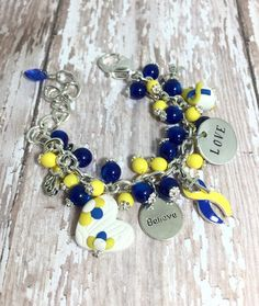 Down Syndrome Bracelet  Down Syndrome by CreationsbyAccident