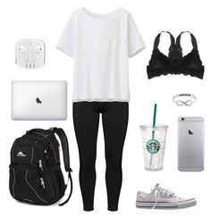"""""""Monday"""" by singer101-1 ❤ liked on Polyvore featuring Boris, Humble Chic, Uniqlo, Converse, High Sierra and Eternally Haute"""