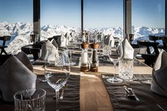 Take a look at one of Austria's most beautiful Alpine buildings and fine dining restaurants, with the most stunning mountainous views.