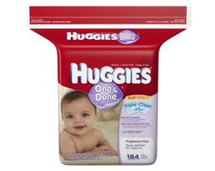 Huggies One & Done Fragrance Free Baby Wipes Refill, 552 Total Wipes 184-Count Pack (Pack of 3) [Packaging May Vary] | Your #1 Source for Health & Personal Care Products