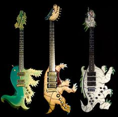 Exotic dinosaur guitars