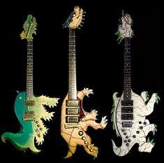 Exotic dinosaur guitars
