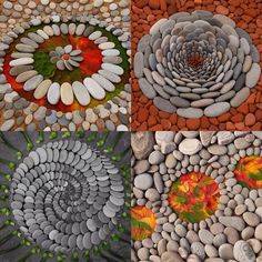 Garden art with stones