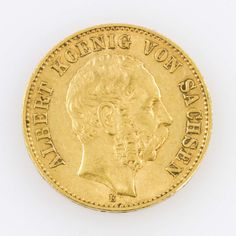 Saxony / GOLD - 20 Mark 1894 E, Albert, approximate 7, 16 g fine, very fine