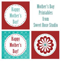 Mother's Day Printables from Sweet Rose Studio #freebies #MothersDay #printables
