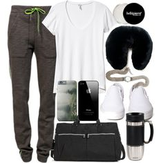 Isaac Inspired Airplane Outfit with Requested Sweatpants by veterization on Polyvore featuring T By Alexander Wang, Vans, Sara Designs, Adrienne Landau, Trudeau and Splendid