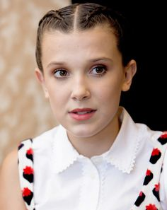 Millie Bobby Brown at the 'Stranger Things' Press Conference on July 22, 2017.