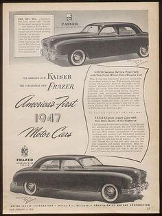 1947 Kaiser and Frazer.