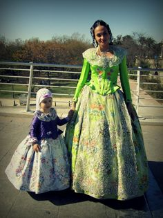Mom and Little Girl ~ Even little girls get decked out in Valencian finery for Las Fallas.