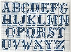 Alphabet x-stitch with shadow
