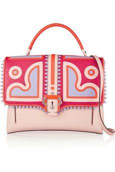 Paula Cademartori Faye appliquéd leather shoulder bag | NET-A-PORTER