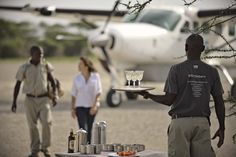 We're excited to bring you a first glimpse into the new &Beyond Private Jet Expeditions. From the moment you land to the moment you leave, &Beyond will be at your side (think: no airport queues, VIP customs and baggage claims. Uganda, Tanzania Safari, Air Charter, Wildlife Safari, Luxury Camping, Private Jet, Above And Beyond, Travel Deals, Cruise