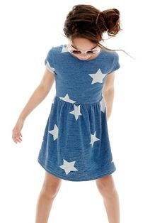 Oversized star fit & flare dress Product Image