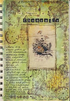 Pretty journal entry about the fragrance of chamomile